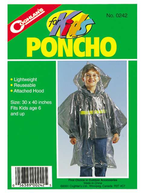 Coghlans Poncho awaryjne Kurtka Dzieci szary/zielony